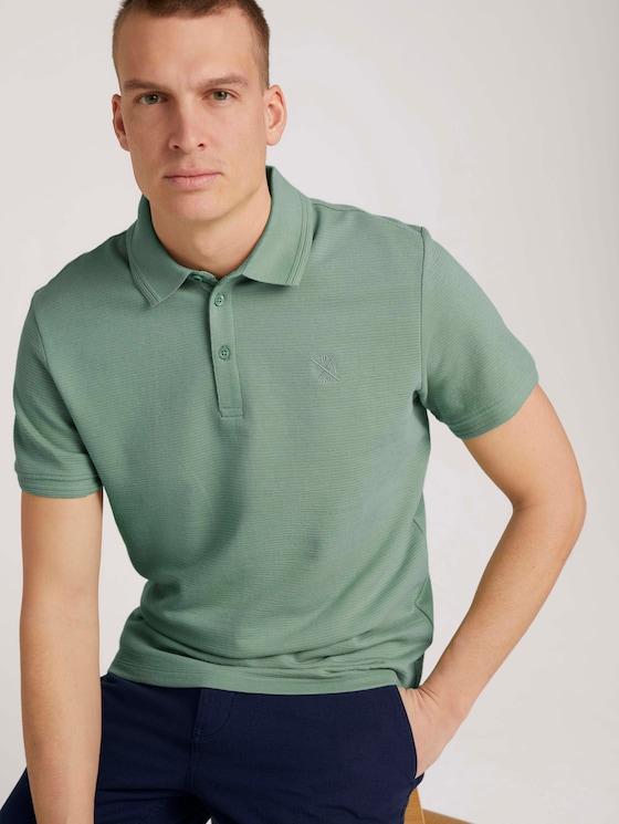 Strukturiertes Poloshirt - Männer - light mint green - 5 - TOM TAILOR