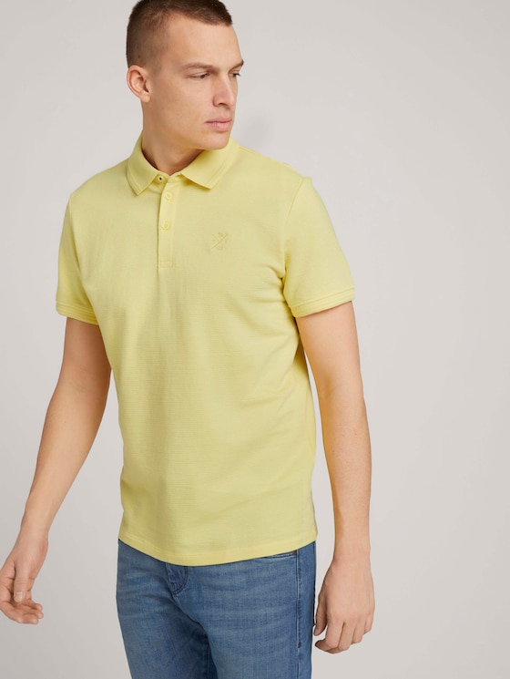 Strukturiertes Poloshirt - Männer - pale straw yellow - 5 - TOM TAILOR