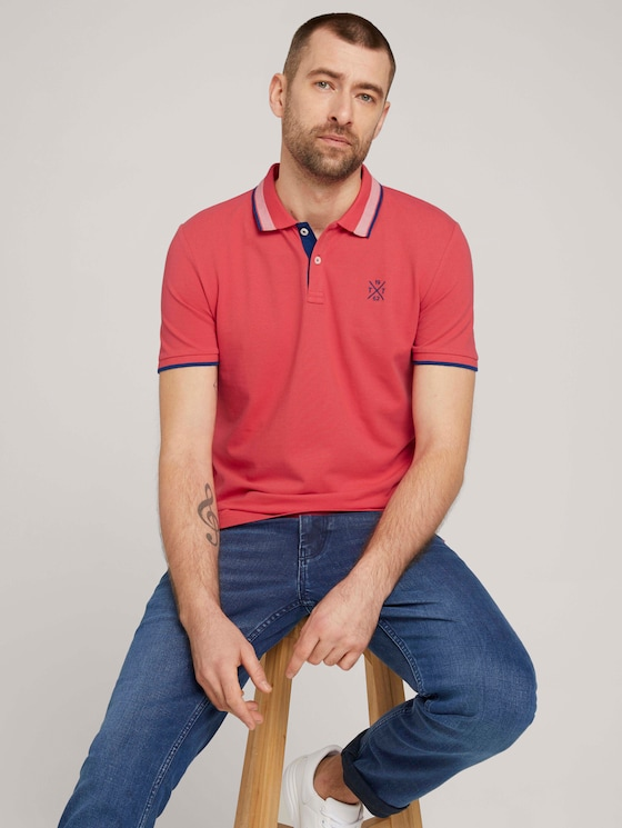 Poloshirt - Männer - Plain Red - 5 - TOM TAILOR