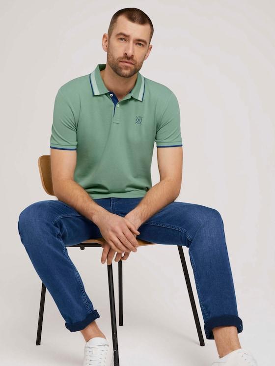 Poloshirt - Männer - light mint green - 5 - TOM TAILOR