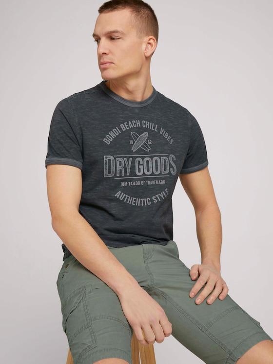T-Shirt mit Print - Männer - Tarmac Grey - 5 - TOM TAILOR