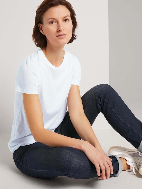 Basic T-shirt in een dubbele verpakking - Vrouwen - Deep Black - 5 - TOM TAILOR