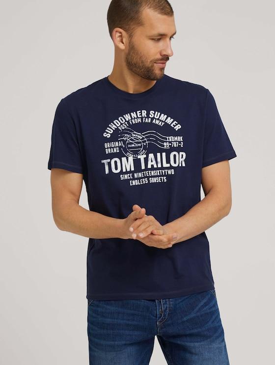 Print T-Shirt - Männer - Sailor Blue - 5 - TOM TAILOR