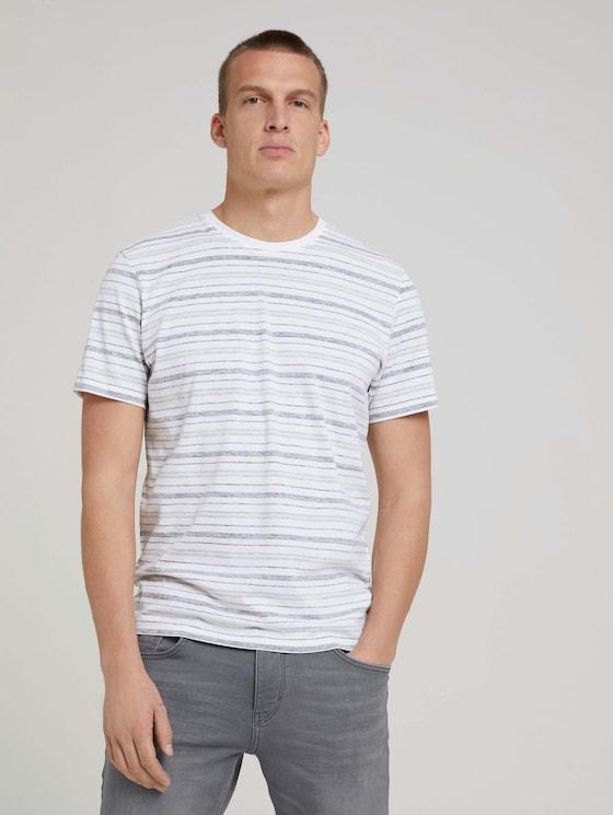 Gestreept T-shirt - Mannen - sailor blue inside stripe - 5 - TOM TAILOR