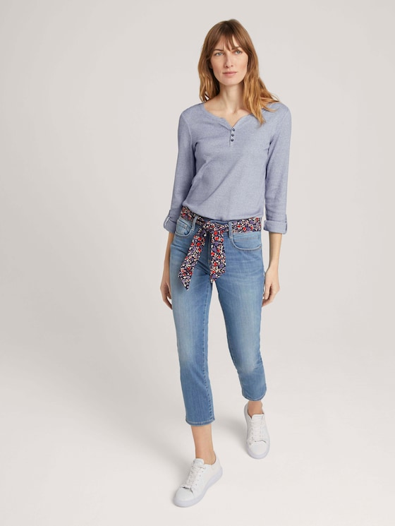 Alexa Slim 7/8 Jeans mit Bio-Baumwolle   - Frauen - Used Light Stone Blue Denim - 3 - TOM TAILOR