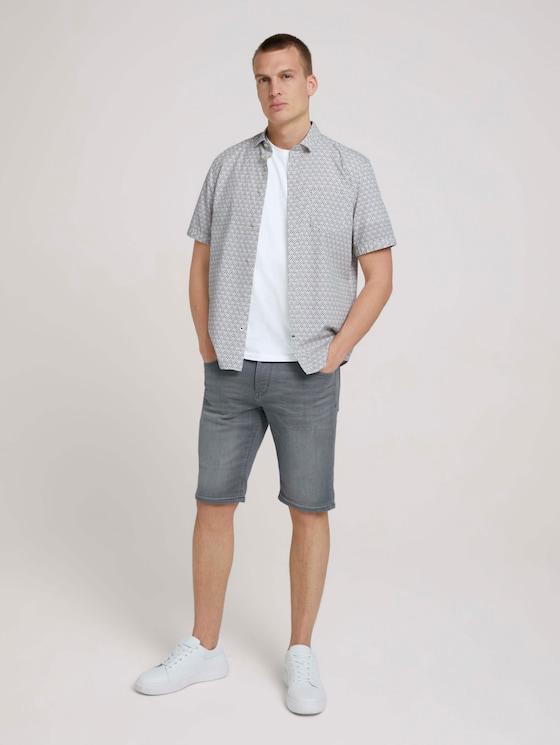 Josh Regular Slim Shorts - Mannen - used light stone grey denim - 3 - TOM TAILOR