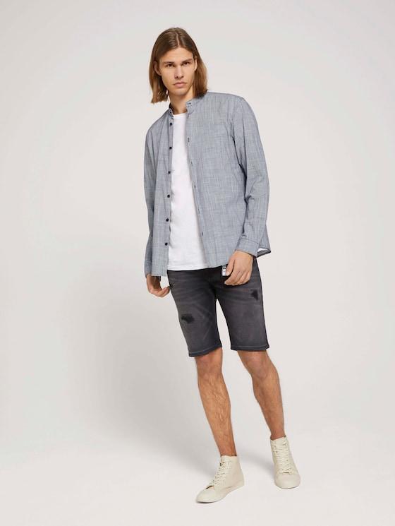 Regular Fit Jeans-Shorts - Männer - destroyed dark stone black den - 3 - TOM TAILOR Denim