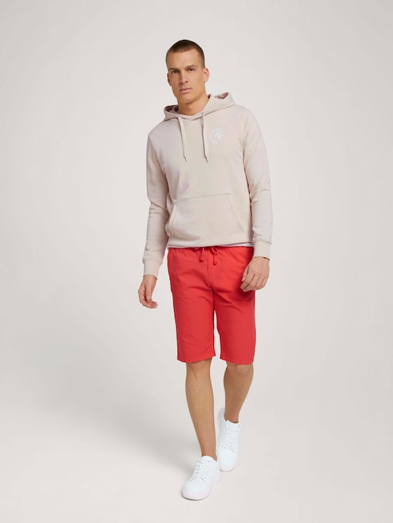 Josh Regular Slim Bermudashorts - Männer - Plain Red - 3 - TOM TAILOR