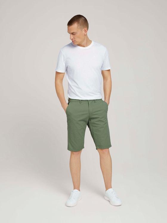 Josh Regular Slim Shorts - Männer - light mint green - 3 - TOM TAILOR