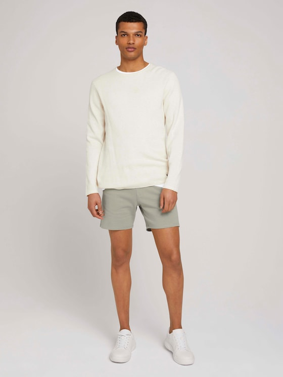 Bermuda Sweatshorts - Männer - Greyish Shadow Olive - 3 - TOM TAILOR Denim