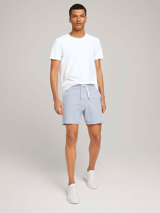 Bermuda Sweatshorts - Männer - Foggy Blue - 3 - TOM TAILOR Denim