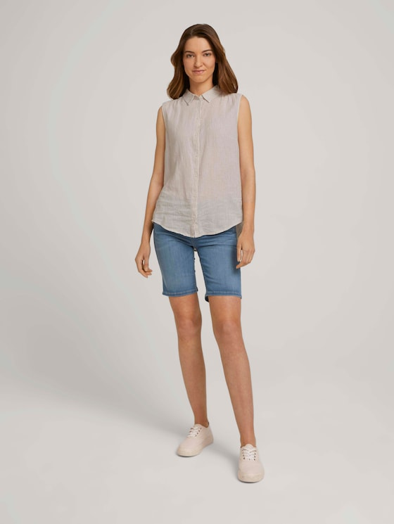 Alexa Bermuda denim shorts - Women - Light Stone Blue Denim - 3 - TOM TAILOR