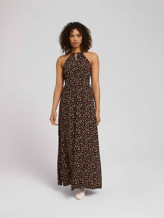 Maxi jurk geknoopt in de hals - Vrouwen - colourful leo print - 5 - TOM TAILOR Denim