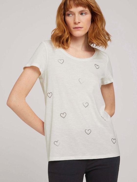 T-Shirt - Frauen - Whisper White - 5 - TOM TAILOR