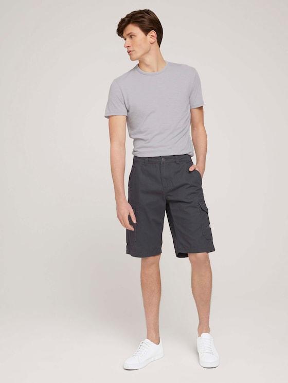 Twill Cargo Shorts - Männer - Tarmac Grey - 3 - TOM TAILOR