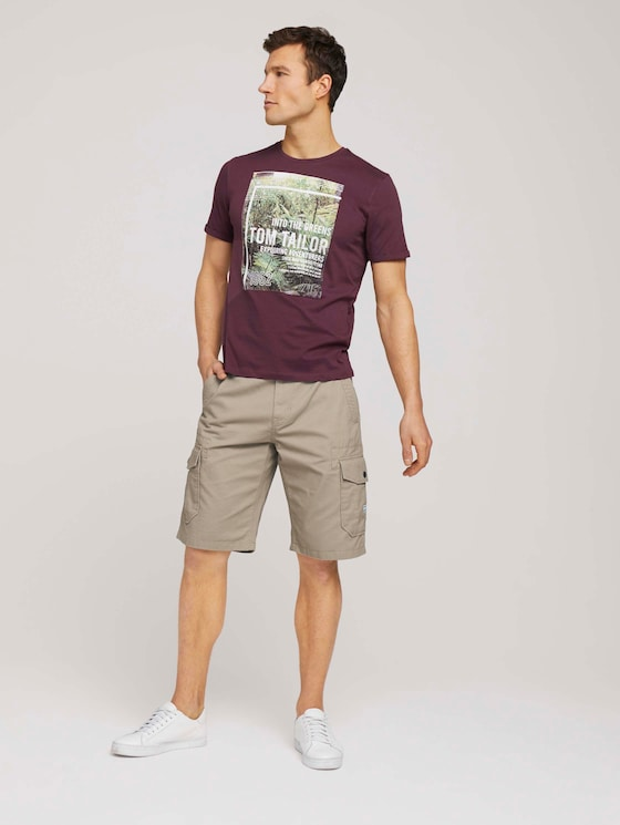 Twill Cargo Shorts - Männer - Chinchilla - 3 - TOM TAILOR