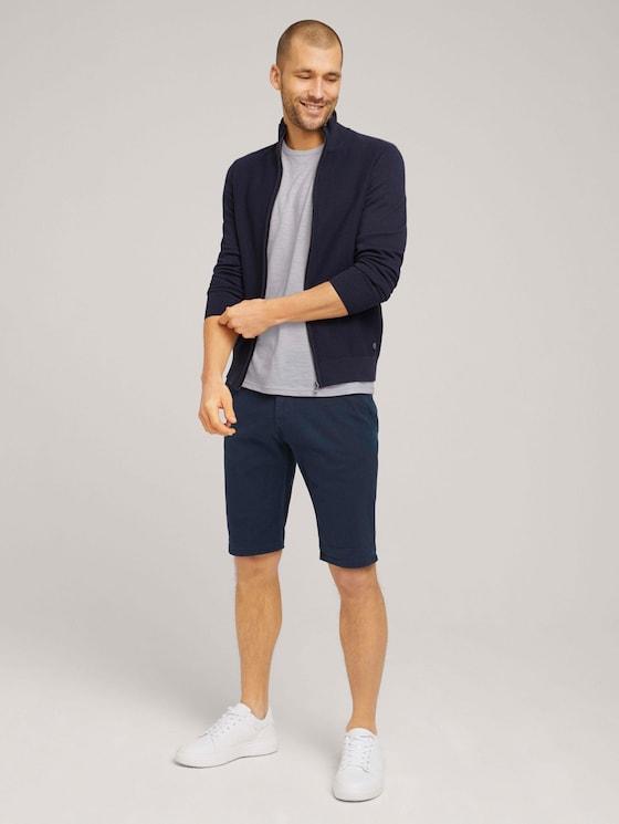 Chino Slim Shorts mit Bio-Baumwolle  - Männer - Dark Blue - 3 - TOM TAILOR