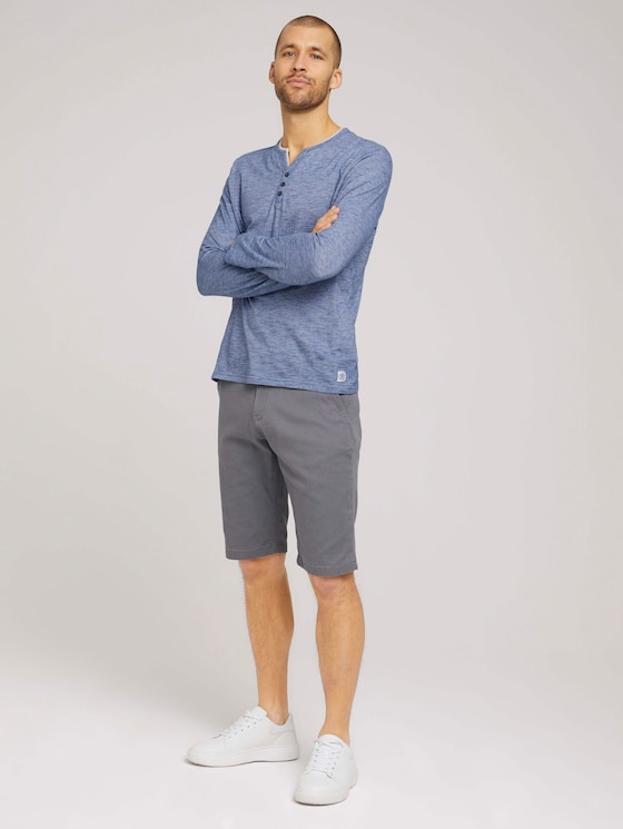 Chino Slim Shorts mit Bio-Baumwolle   - Männer - Castlerock Grey - 3 - TOM TAILOR