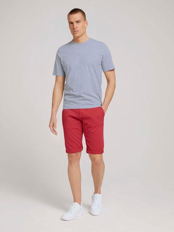 Chino Slim Shorts mit Bio-Baumwolle - Männer - Plain Red - 3 - TOM TAILOR