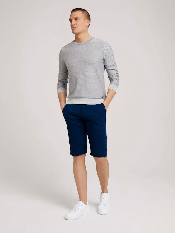 Chino Slim Shorts mit Bio-Baumwolle - Männer - after dark blue - 3 - TOM TAILOR