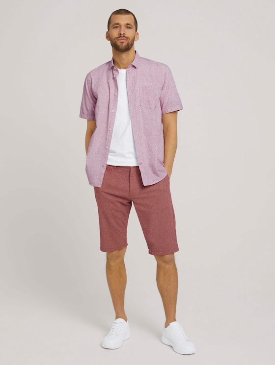 Josh Slim Chino-Shorts - Männer - red minimal design - 3 - TOM TAILOR