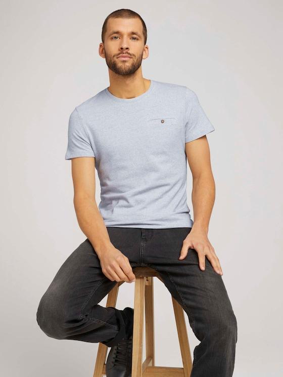 gepunktetes T-Shirt - Männer - Off White - 5 - TOM TAILOR