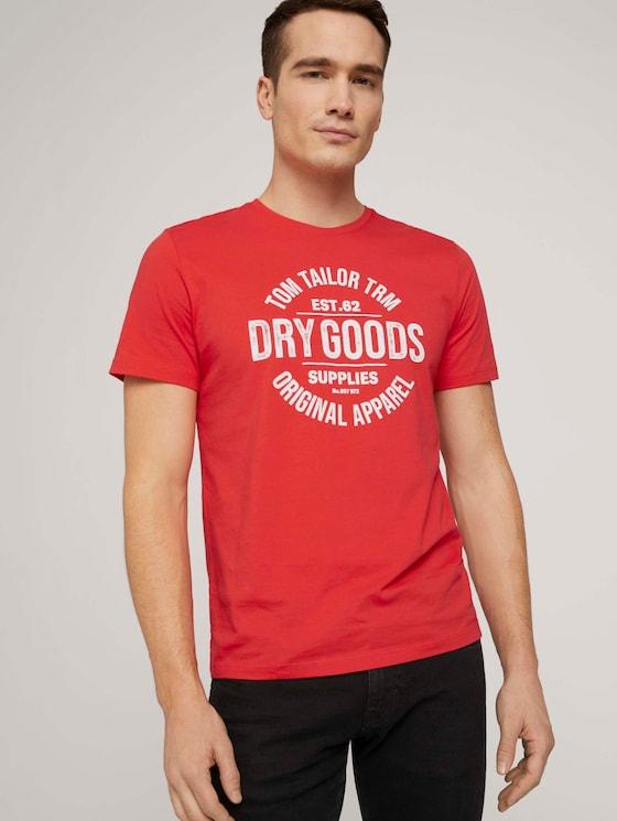 T-Shirt mit Bio-Baumwolle  - Männer - Powerful Red - 5 - TOM TAILOR