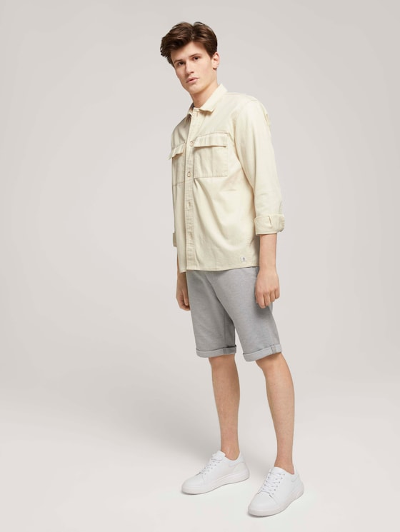 Chino Slim Shorts - Männer - light grey twill - 3 - TOM TAILOR Denim