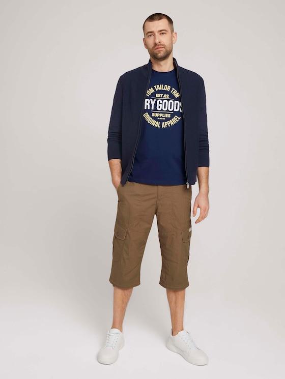 Max Cargo Bermuda Shorts - Männer - beige bean design - 3 - TOM TAILOR