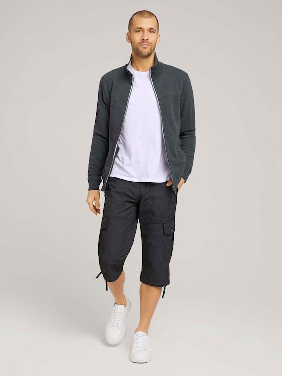 Max Cargo Bermuda Shorts - Männer - black bean design - 3 - TOM TAILOR