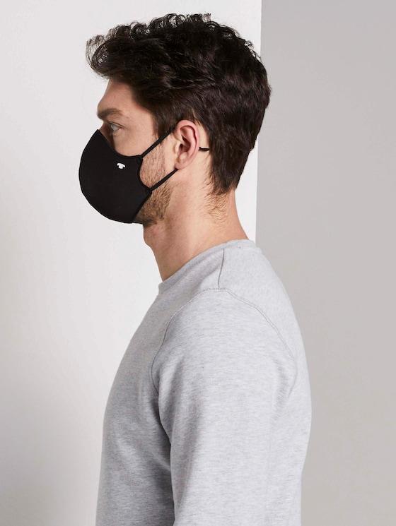 Stoffmaske im Doppelpack - Männer - Black - 5 - TOM TAILOR
