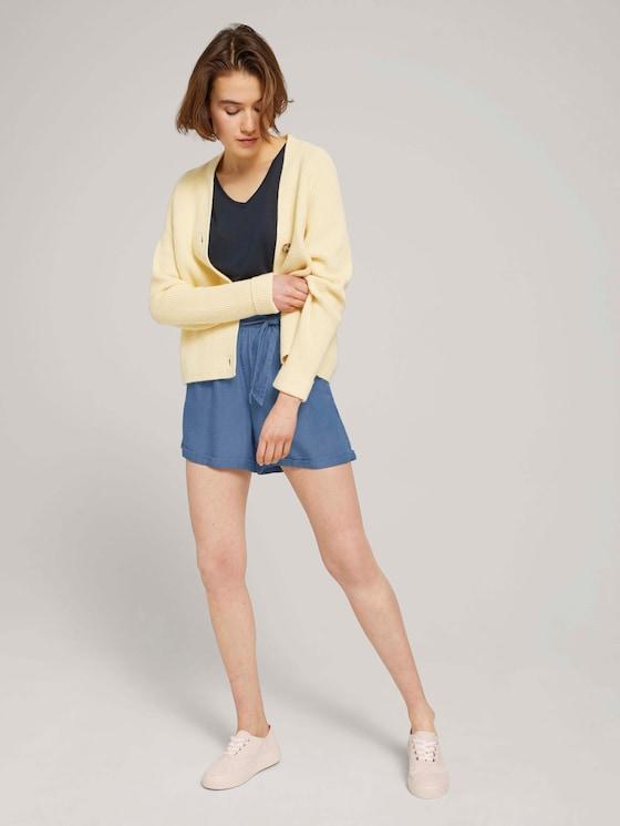 Relaxed Shorts mit TENCEL™ - Frauen - Used Light Stone Blue Denim - 3 - TOM TAILOR Denim