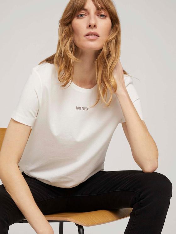 T-Shirt mit Bio-Baumwolle - Frauen - Whisper White - 5 - TOM TAILOR