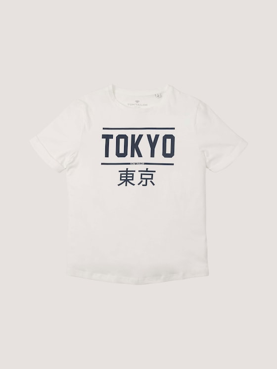 T-Shirt mit Print - Jungen - kids snow white - 7 - Tom Tailor E-Shop Kollektion