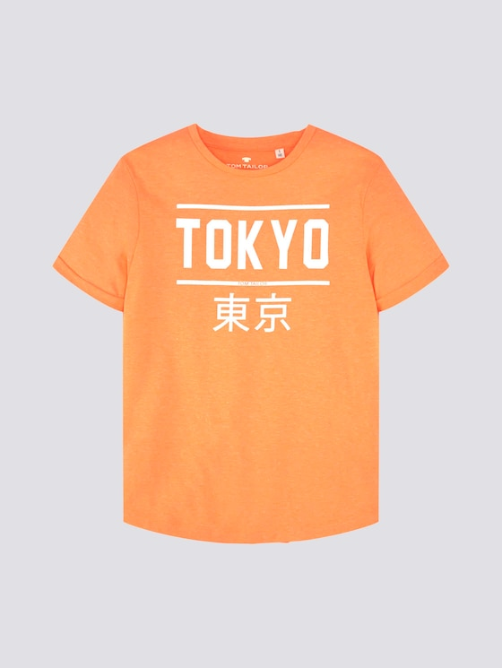 T-Shirt mit Print - Jungen - kids neon coral - 7 - Tom Tailor E-Shop Kollektion