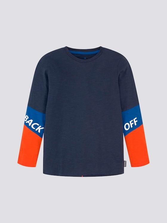 Langarmshirt mit Schriftzug - Jungen - kids dress blue - 7 - Tom Tailor E-Shop Kollektion