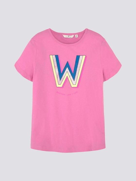 T-Shirt mit Print - Mädchen - kids fuchsia pink - 7 - Tom Tailor E-Shop Kollektion