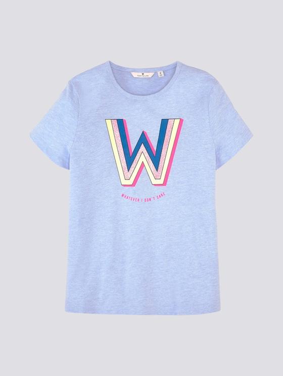 T-Shirt mit Print - Mädchen - kids regatta blue melange - 7 - Tom Tailor E-Shop Kollektion