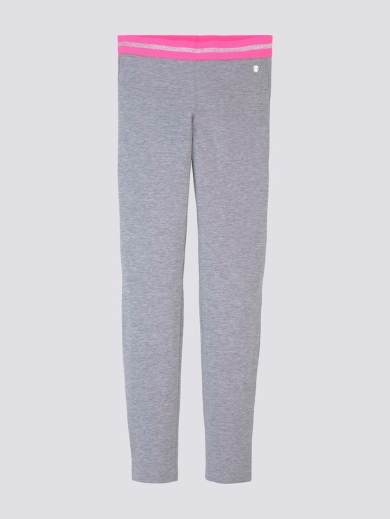 Leggings in melange look - Meisjes - kids drizzle grey melange - 7 - Tom Tailor E-Shop Kollektion