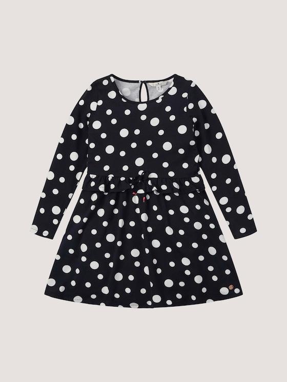 gepunktetes Kleid - Mädchen - kids night sky blue dot design - 7 - Tom Tailor E-Shop Kollektion