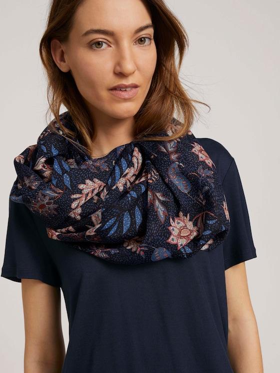 Gemusterter Schlauchschal - Frauen - navy floral design - 5 - Tom Tailor E-Shop Kollektion