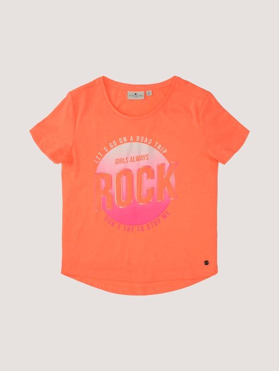T-Shirt mit Print - Mädchen - kids power orange - 7 - Tom Tailor E-Shop Kollektion