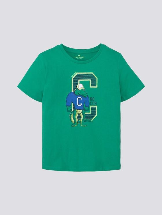 T-Shirt mit Print - Jungen - kids holly green - 7 - Tom Tailor E-Shop Kollektion