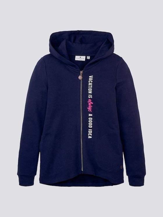Sweatjacke mit Rückenprint - Mädchen - kids peacoat blue - 7 - Tom Tailor E-Shop Kollektion