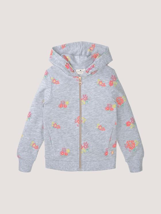 Sweatjacke - Mädchen - kids melange flower design - 7 - Tom Tailor E-Shop Kollektion