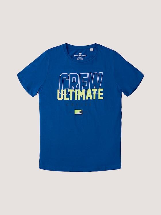 T-Shirt mit Print - Jungen - kids blue lolite - 7 - Tom Tailor E-Shop Kollektion
