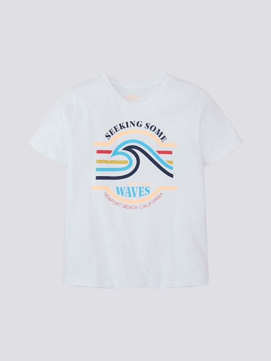 T-Shirt mit Print - Jungen - kids bright white - 7 - Tom Tailor E-Shop Kollektion