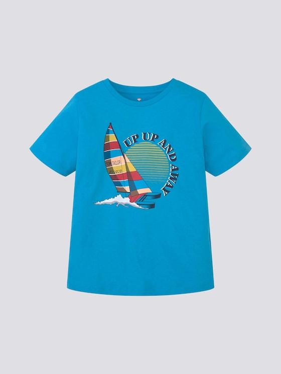 T-Shirt mit Print - Jungen - kids cyan blue - 7 - Tom Tailor E-Shop Kollektion