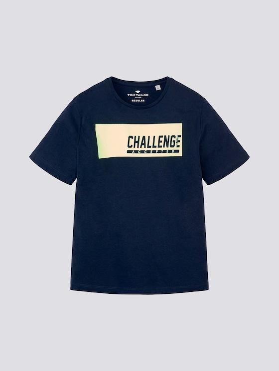 T-Shirt mit sportlichem Print - Jungen - kids dress blue - 7 - Tom Tailor E-Shop Kollektion