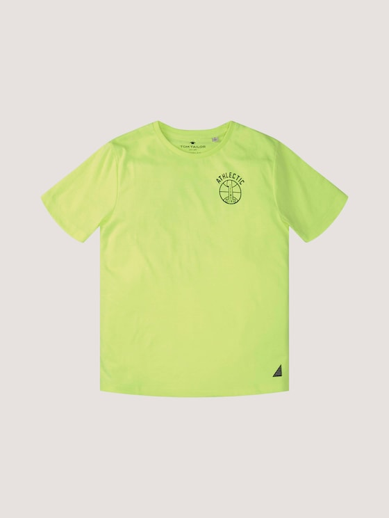 T-Shirt mit Print - Jungen - kids flashy lime green - 7 - Tom Tailor E-Shop Kollektion